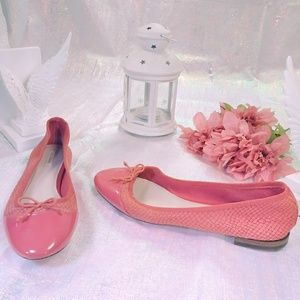 """Cole Haan   """"Sarina"""" coral reptile leather flats"""